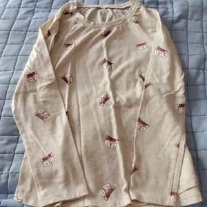 Long sleeve fox shirt